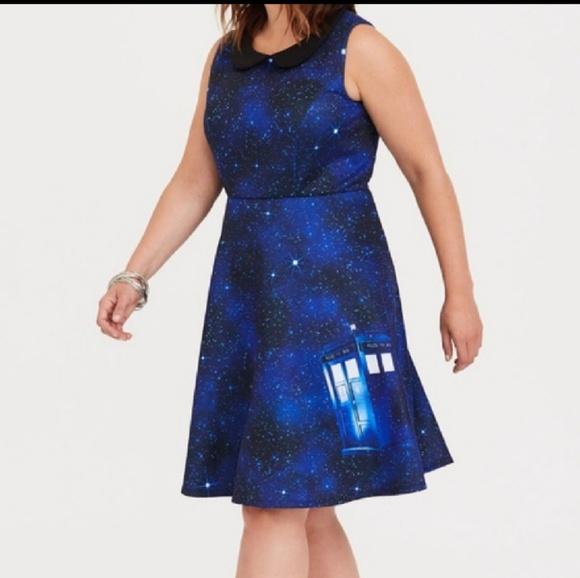 Hot Topic Dresses & Skirts - DOCTOR WHO TARDIS SKATER DRESS